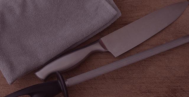 Como amolar suas facas corretamente?